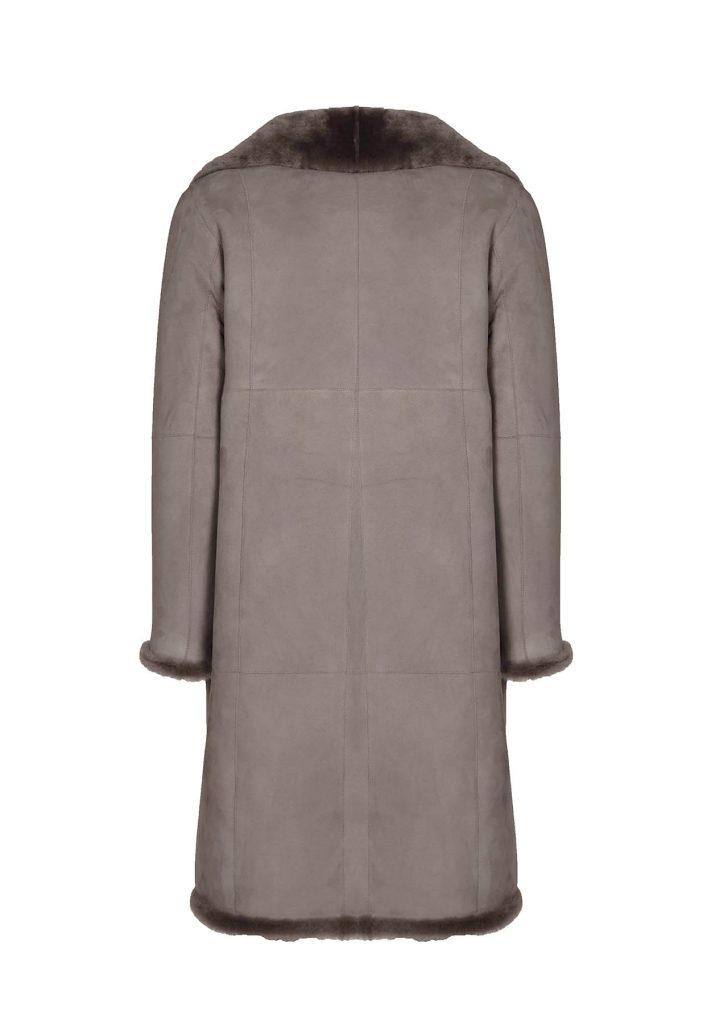 Moosfarbene Mantel aus Shearling