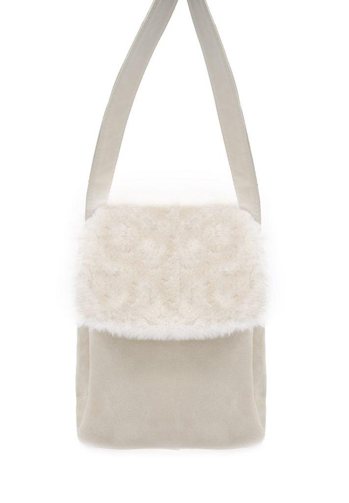 Tasche aus weißem Shearling