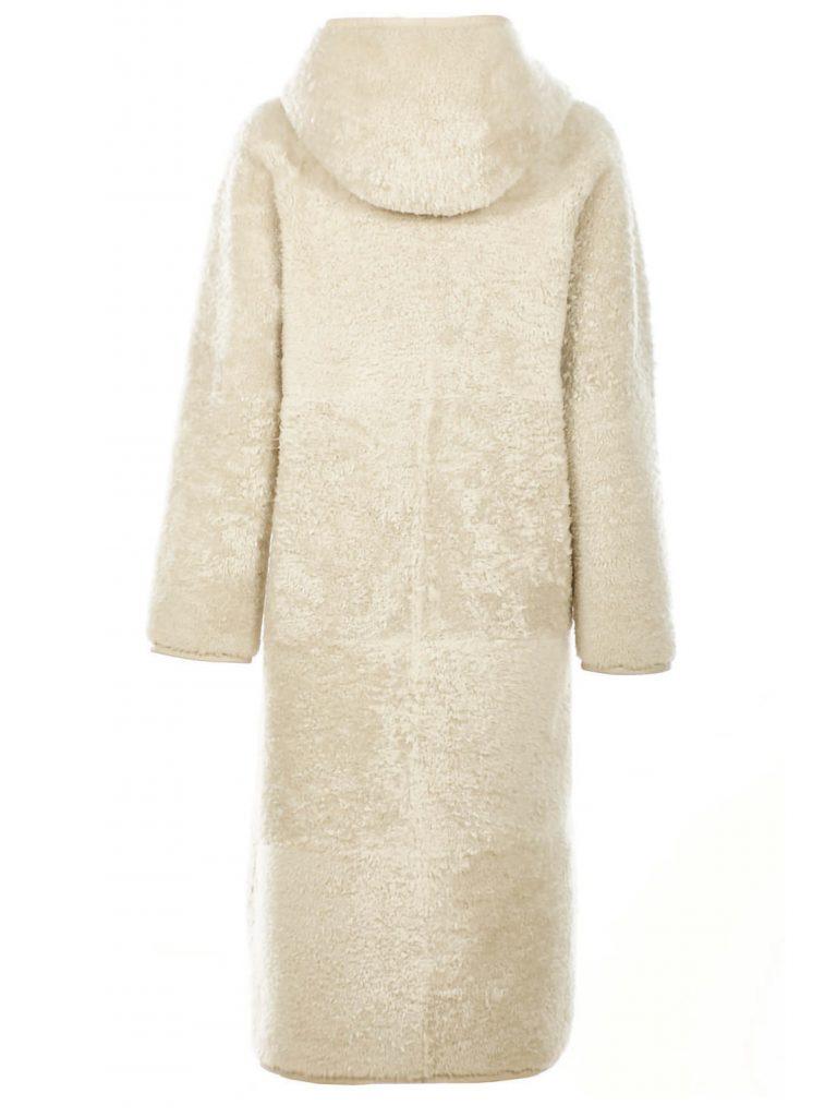 Women's white shearling coat