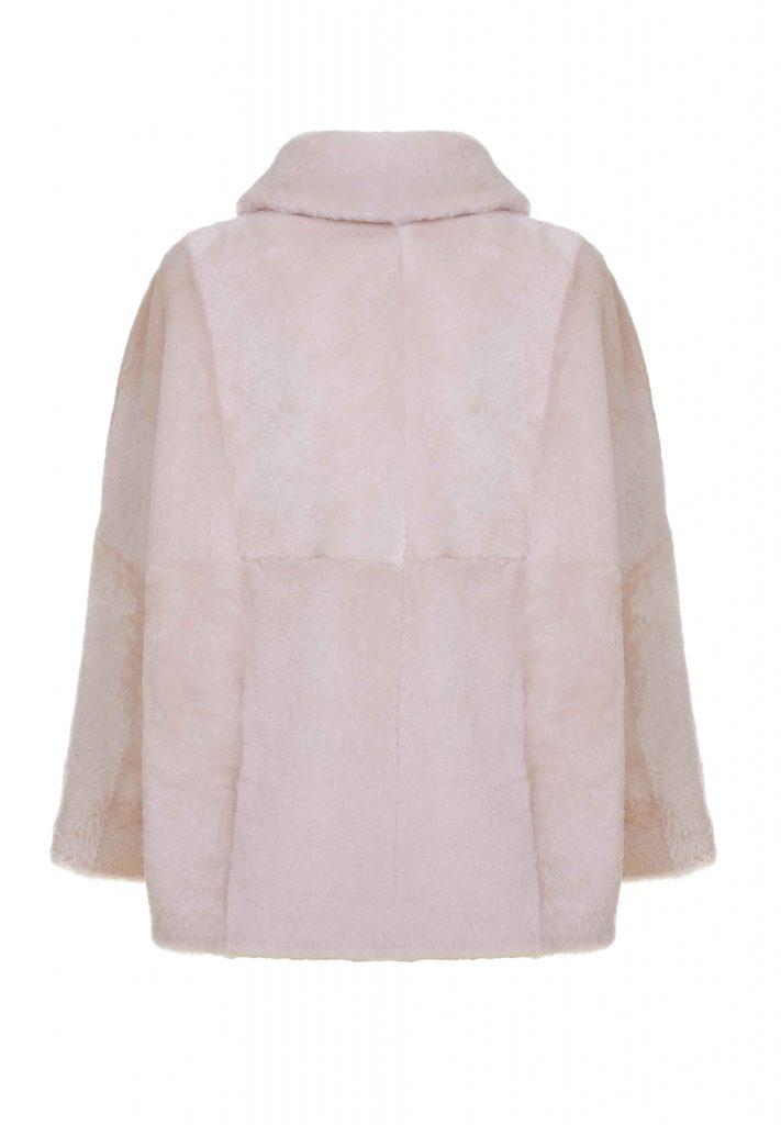 Camicia shearling donna bianco naturale
