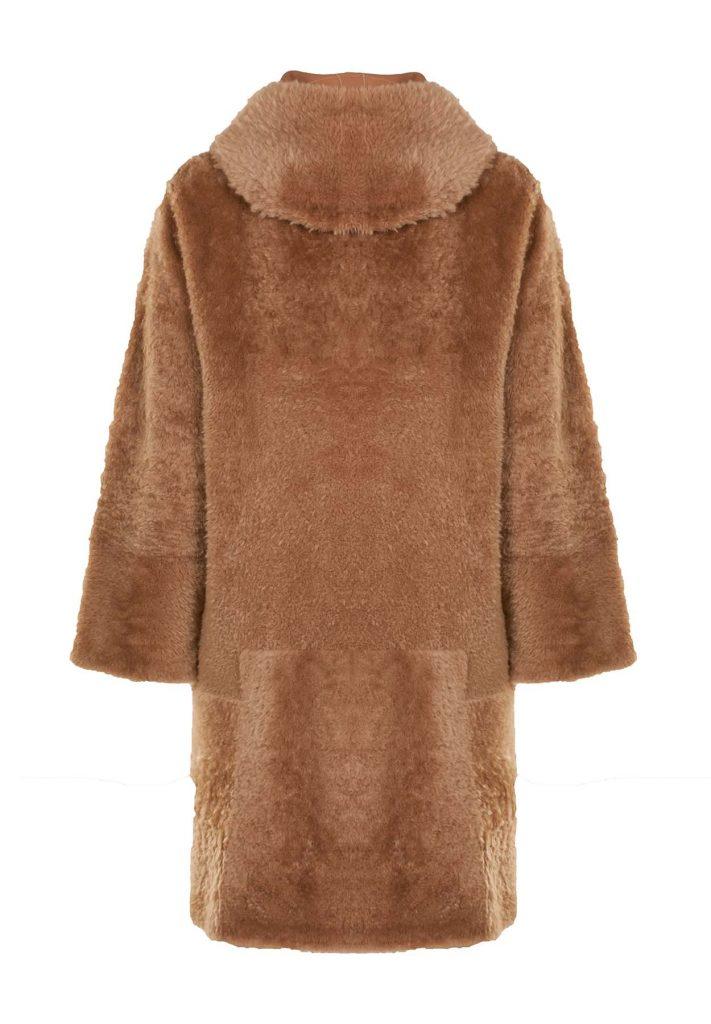 Cappottino shearling donna cammello