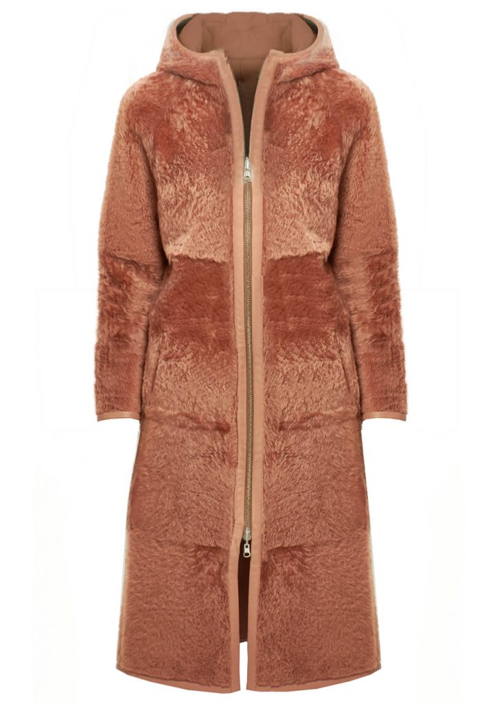 Cappotto shearling donna color phard